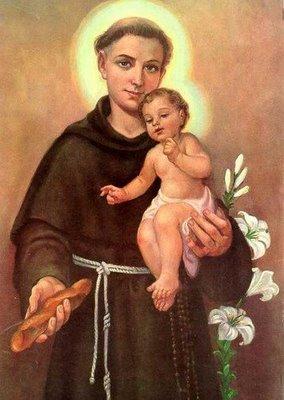 St Anthony of Padua holding the Child Jesus